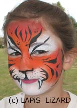 face painting near Oxford Oxfordshire tiger face