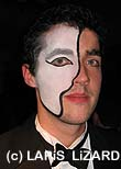 young man with phantom of the opera mask